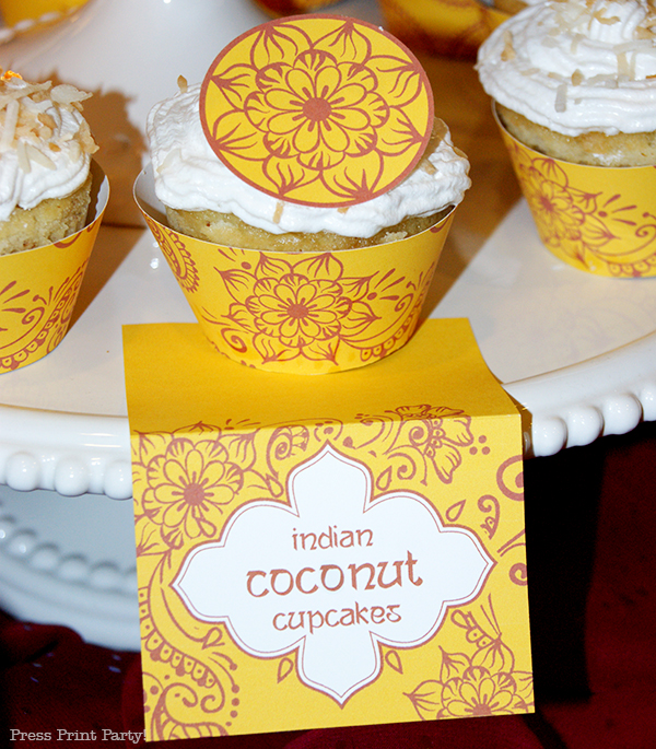Indian-henna-cupcake-and-place-card-printables
