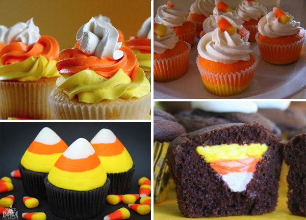 Candy Corn Cupcakes Tutorial Round Up