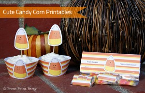 Cute Candy Corn Halloween Printables by Press Print Party!