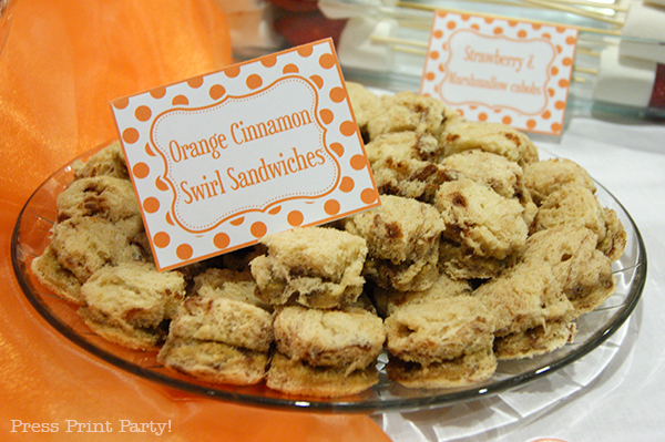 Orange Cream Tea Party with printables from Press Print Party