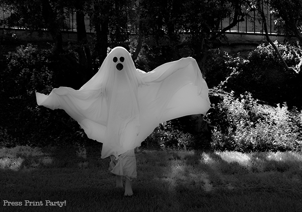 Easy ghost costume tutorial - Press Print Party