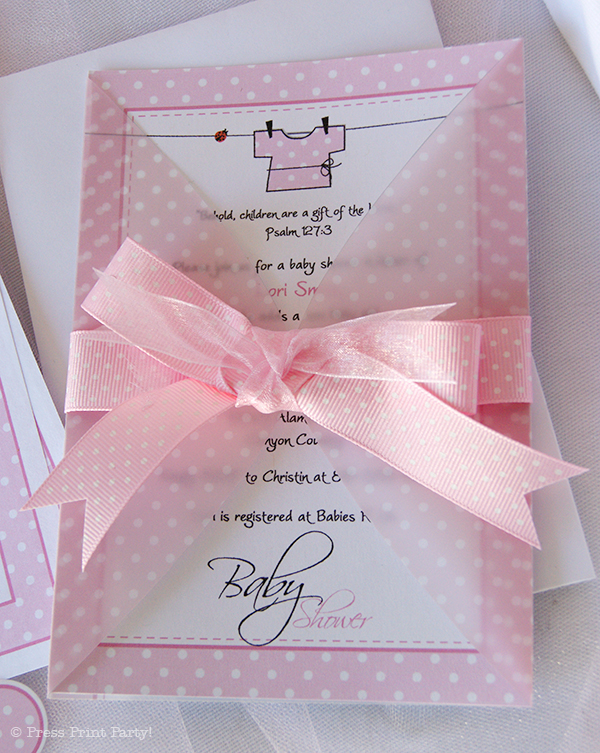 Ladybug Invite for luxury invitation design
