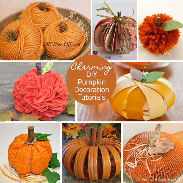 Charming DIY Pumpkin Decoration Tutorials