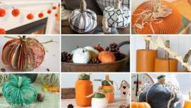 pumpkin craft Ideas w full tutoiriala -Press Print Party!
