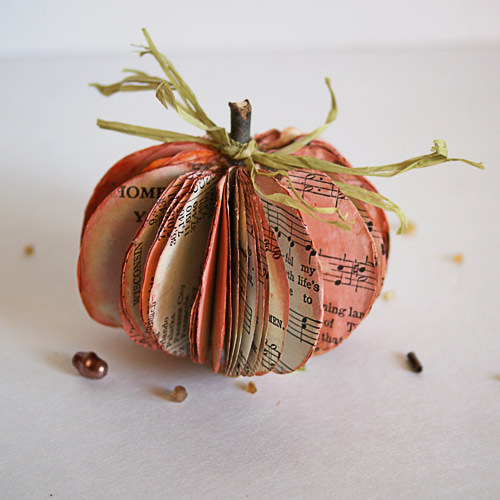 Pumpkin craft ideas -music sheets