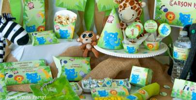 Jungle Theme Party Printables