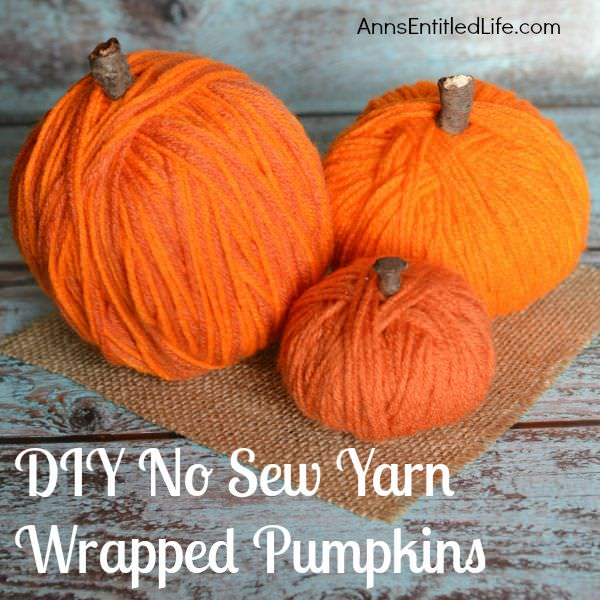 Pumpkin craft ideas -yarn