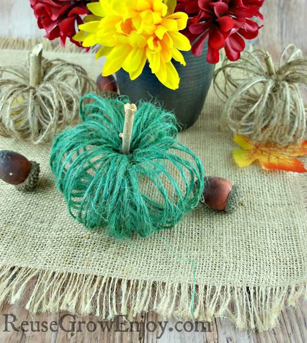 Pumpkin craft ideas - twine pumpkin
