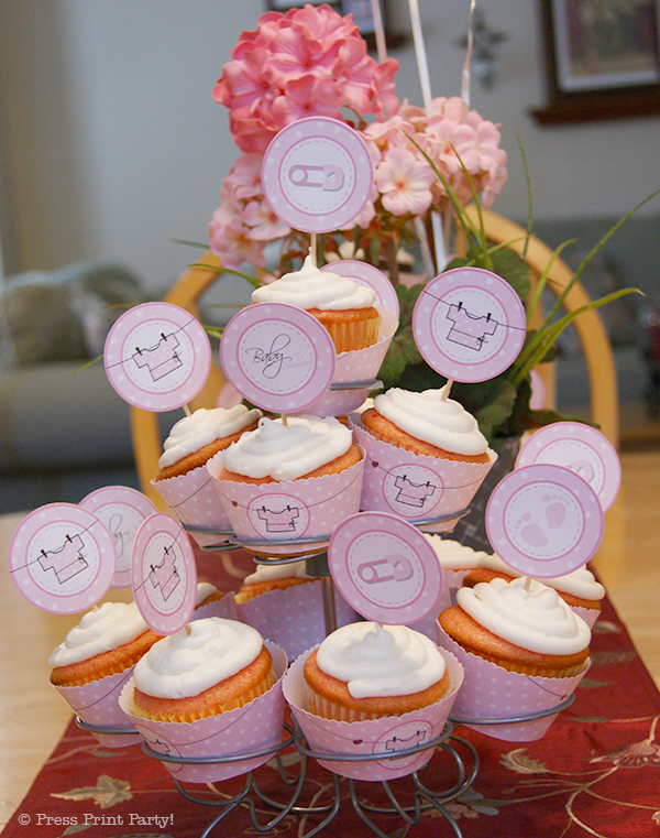 Lovely girl Baby Shower Party in Pink and White Polka Dots