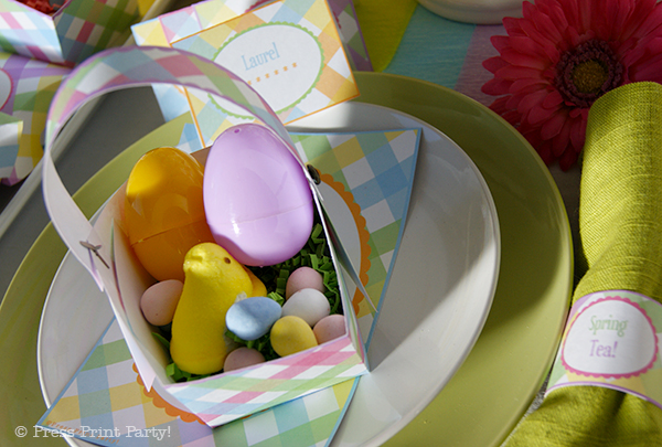 Spring Gingham Printables for Easter by Press Print Party!