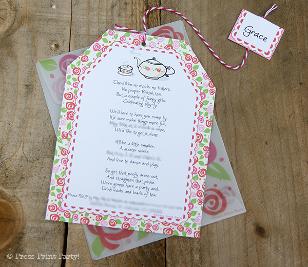 A Delightful Spring Party- by Press Print Party! - Invitations