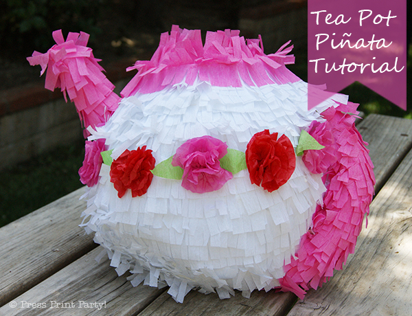 Tea Pot Pinata DIY Tutorial by Press Print Party!