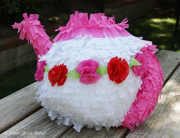 A Delightful Spring Tea Party - by Press Print Party. Tea Pot Pinata