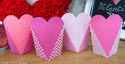 Free Valentine's Day Printable Heart Boxes