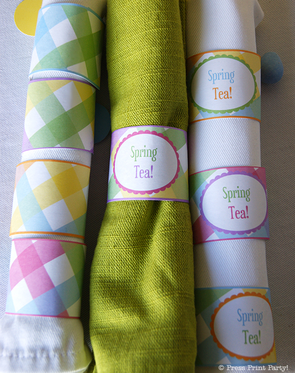 Spring Gingham Printables for Easter by Press Print Party! - Napkin rings