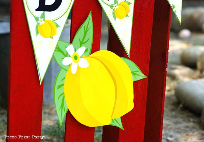 lemon sign lemonade stand Press Print Party