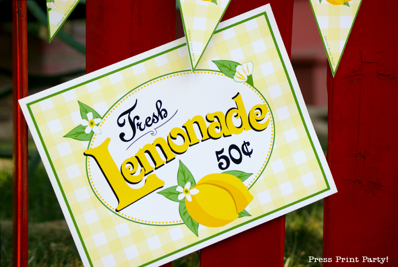 Free Lemonade Stand Printables - 371.4KB
