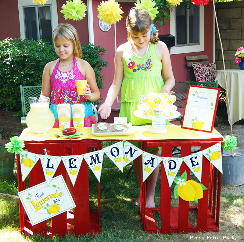 Free Lemonade Stand Printables by Press Print Party!