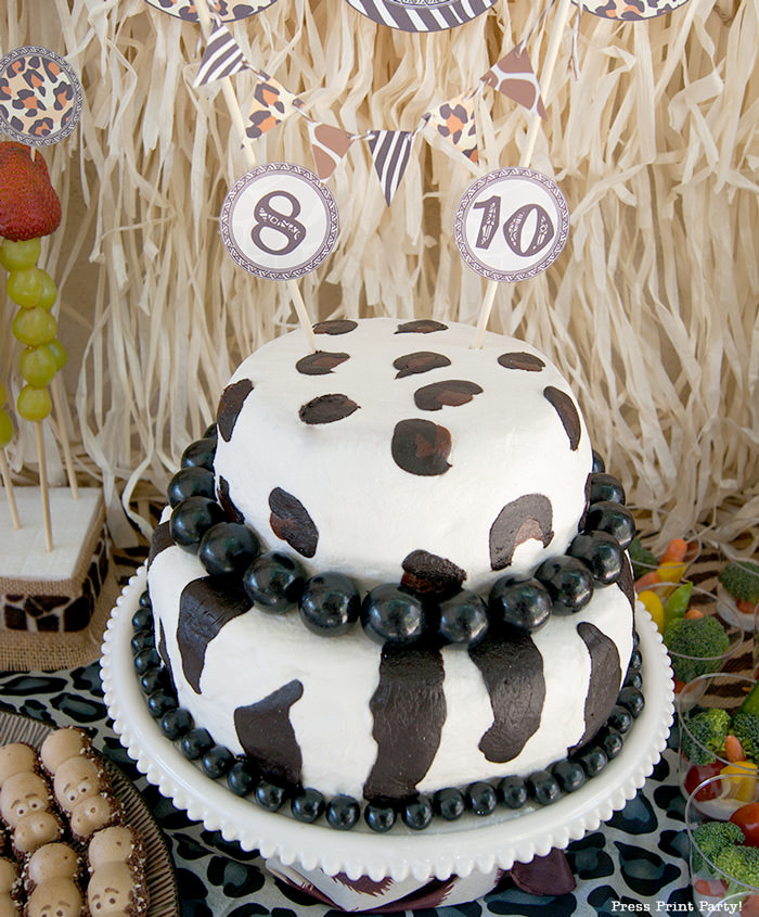 Get Wild african Animal party Safari theme Party Printables - Press Print Party! animal print cake
