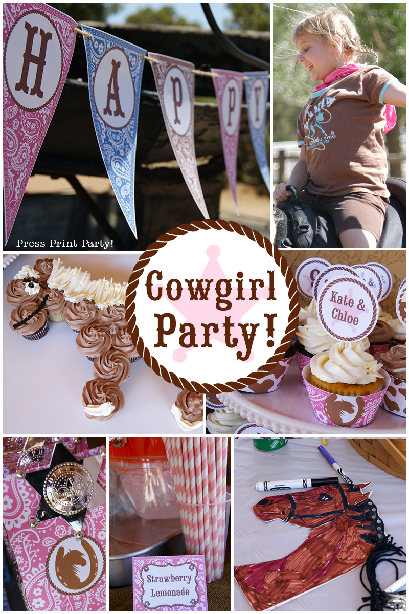 Country Cowgirl Western Party by Press Print Party!