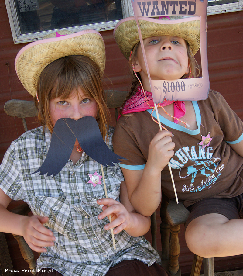 Country Cowgirl Western Party by Press Print Party! Photo booth props