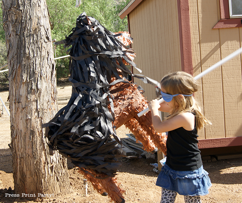 Country Cowgirl Western Party by Press Print Party! - horse pinata