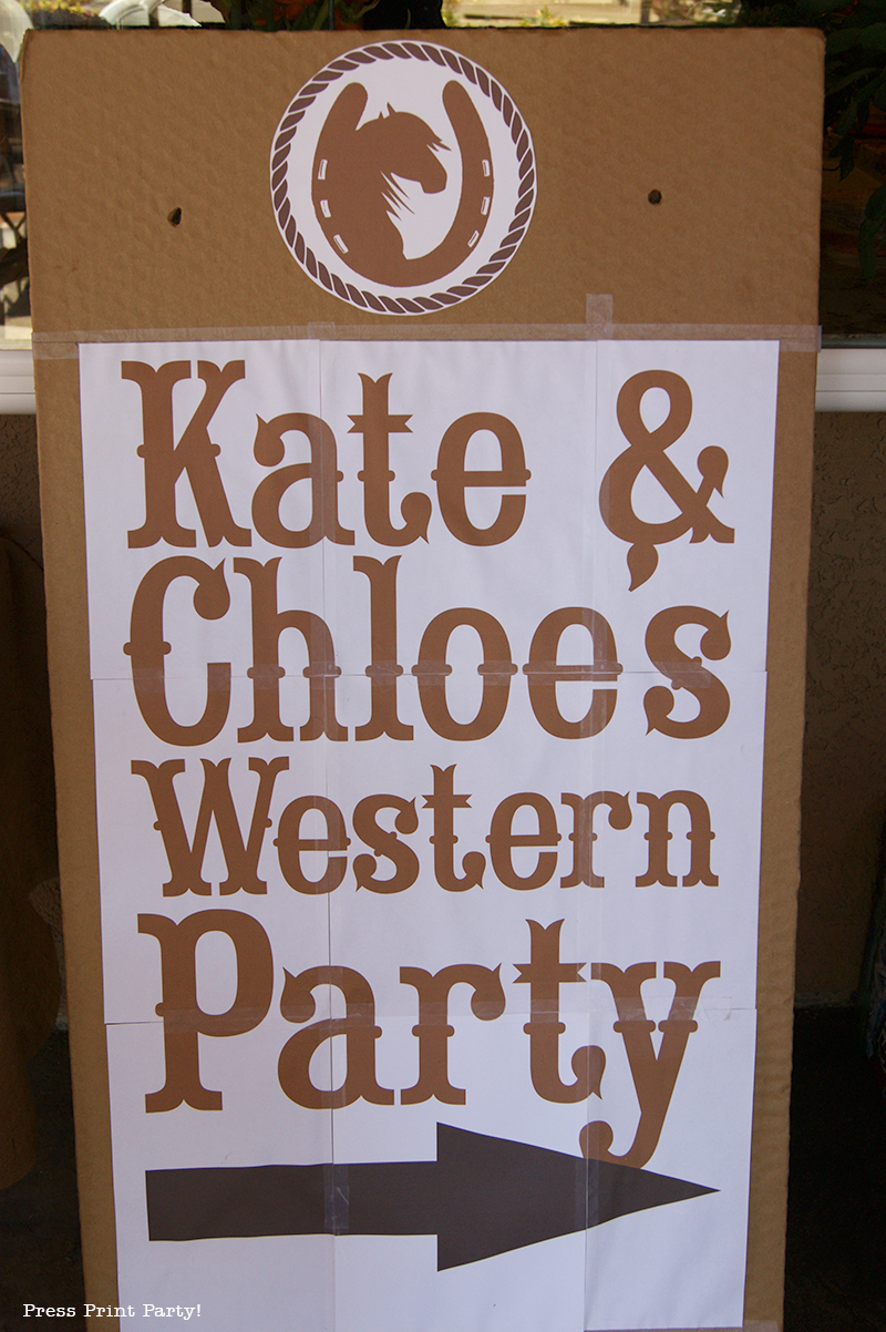 Western-Party-sign