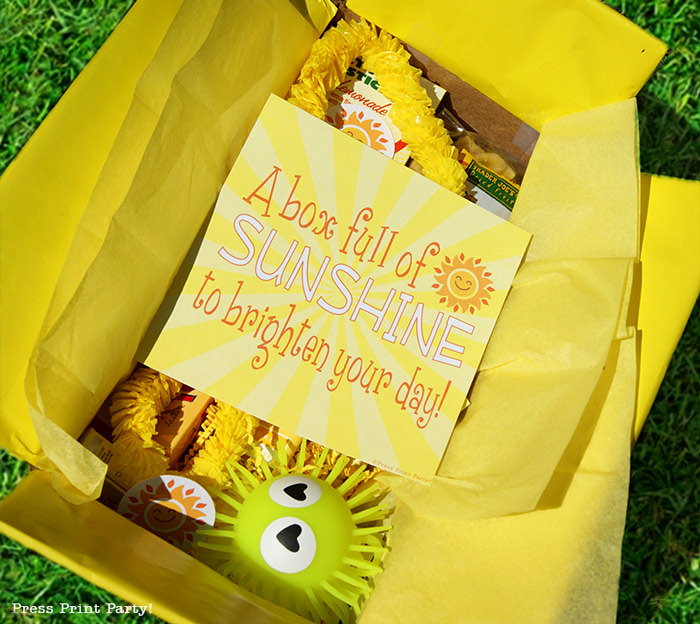 graphic regarding Box of Sunshine Printable named Brighten Someones Working day with a Sun Box - Push Print Social gathering