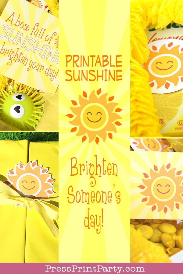 image relating to Box of Sunshine Printable called Brighten Someones Working day with a Sun Box - Thrust Print Bash