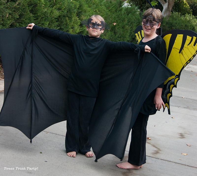 Bat Costume and Butterfly Costume DIY - Halloween - By Press Print Party!