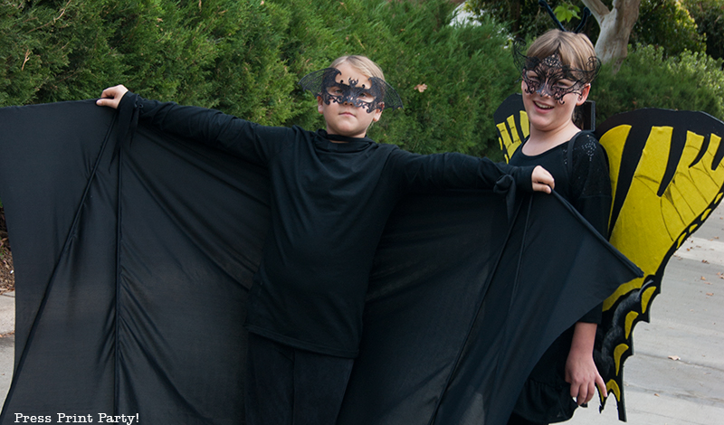 Halloween Bat Costume & Butterfly Costume DIY
