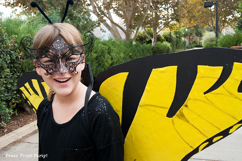 Butterfly Costume DIY - Halloween - By Press Print Party!