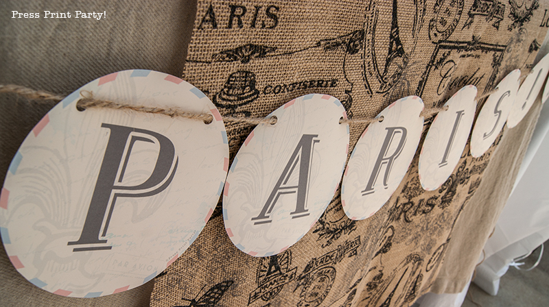 Banners - Paris Party with a French Vintage flair - Press Print Party!