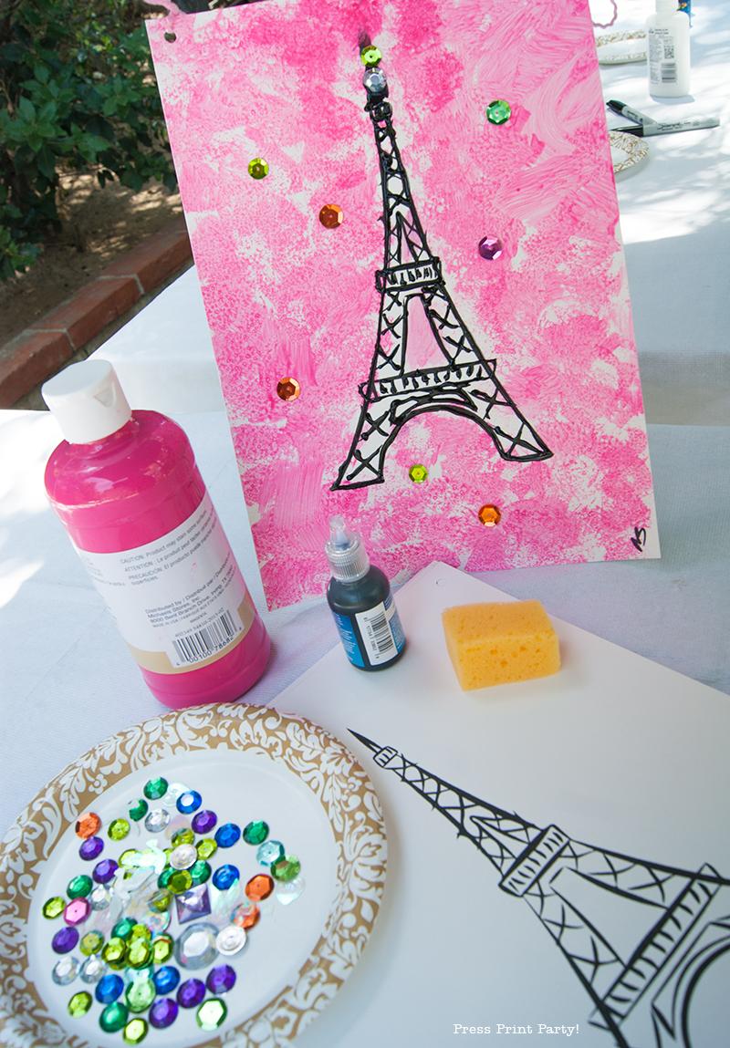 Eiffel Tower Craft - Paris Party - Press Print Party!