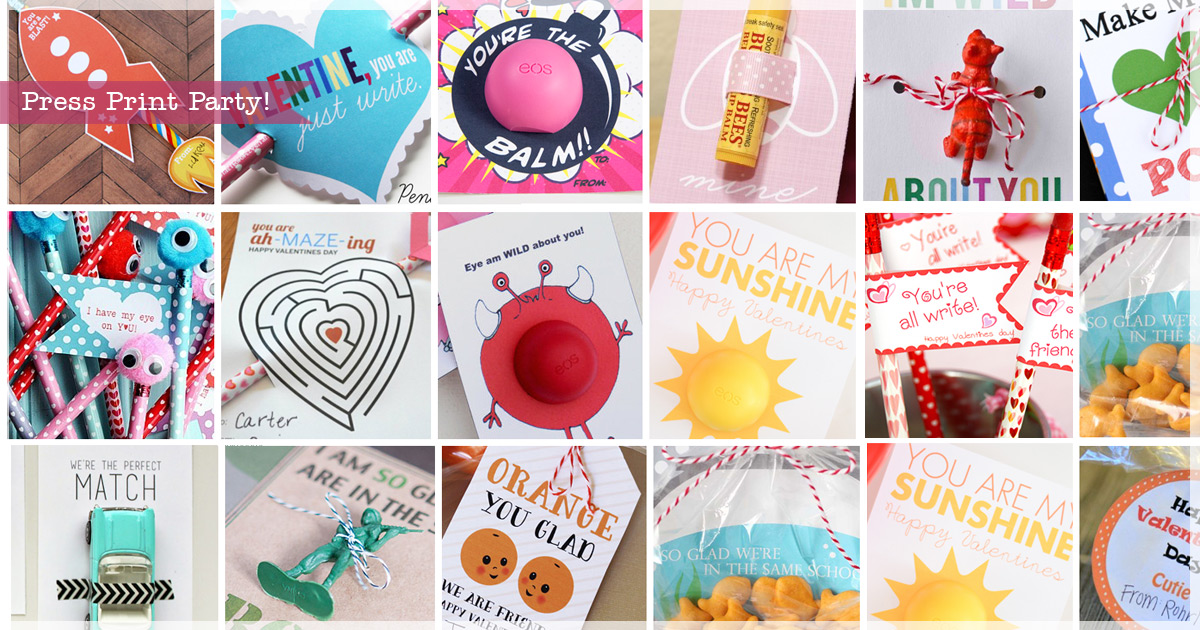 35 Easy No-Candy Valentines with Free Printables