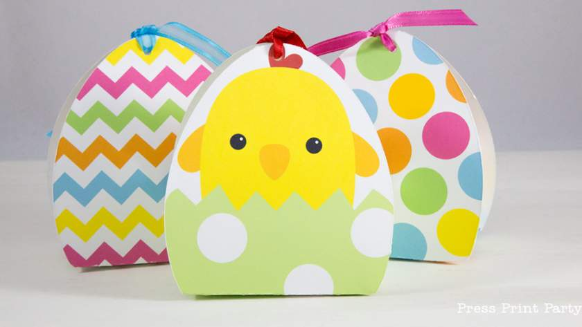 3 Adorable Easter Treat Boxes Printables