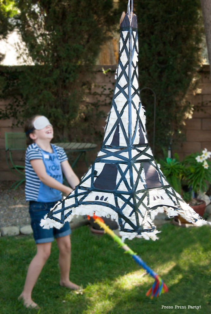 Eiffel Tower Pinata DIY- Paris Party - Press Print Party!