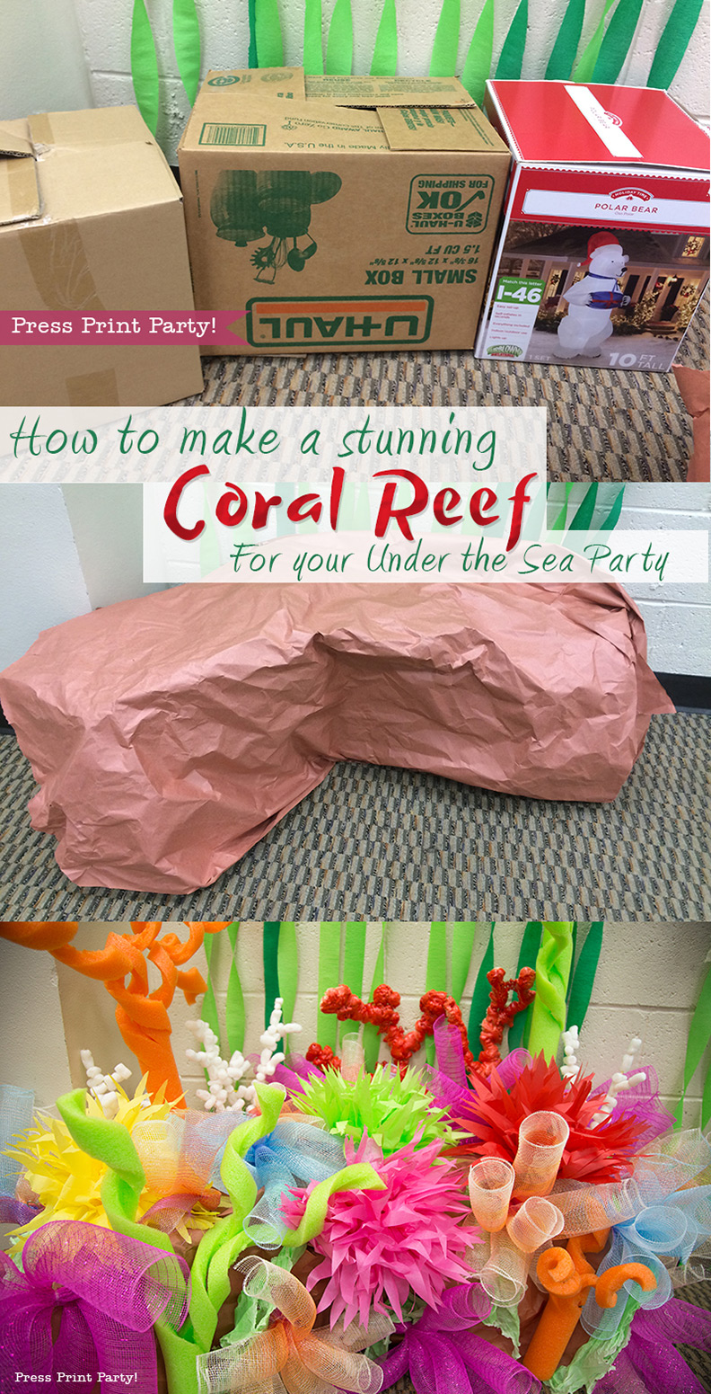 How To Make A Coral Reef Decoration By Press Print Party