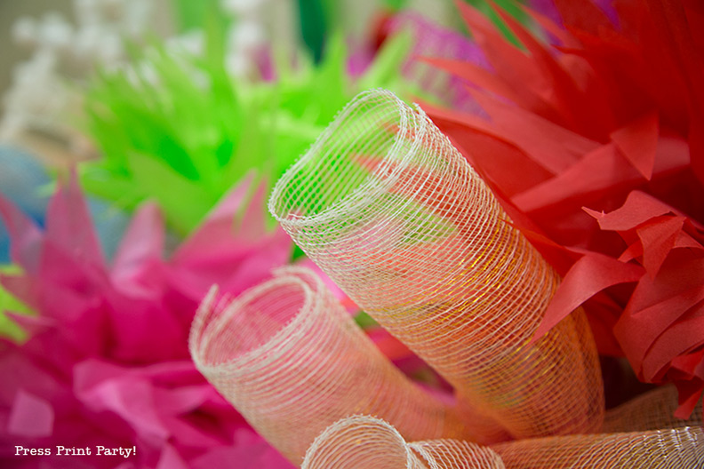 How to Make a Stunning Coral Reef for you Under the Sea Party, Mermaid Party, or VBS. DIY By Press Print Party #OceanCommotion #Underthesea #mermaid Decorations