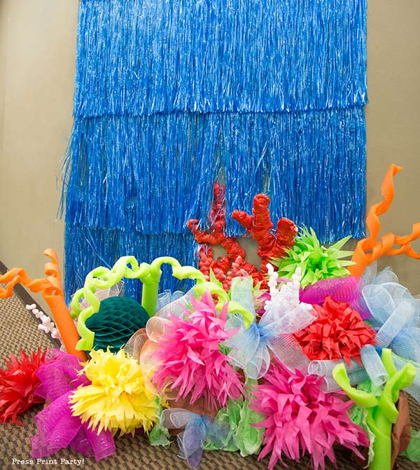 final coral reef with pool noodle coral and paper anemones