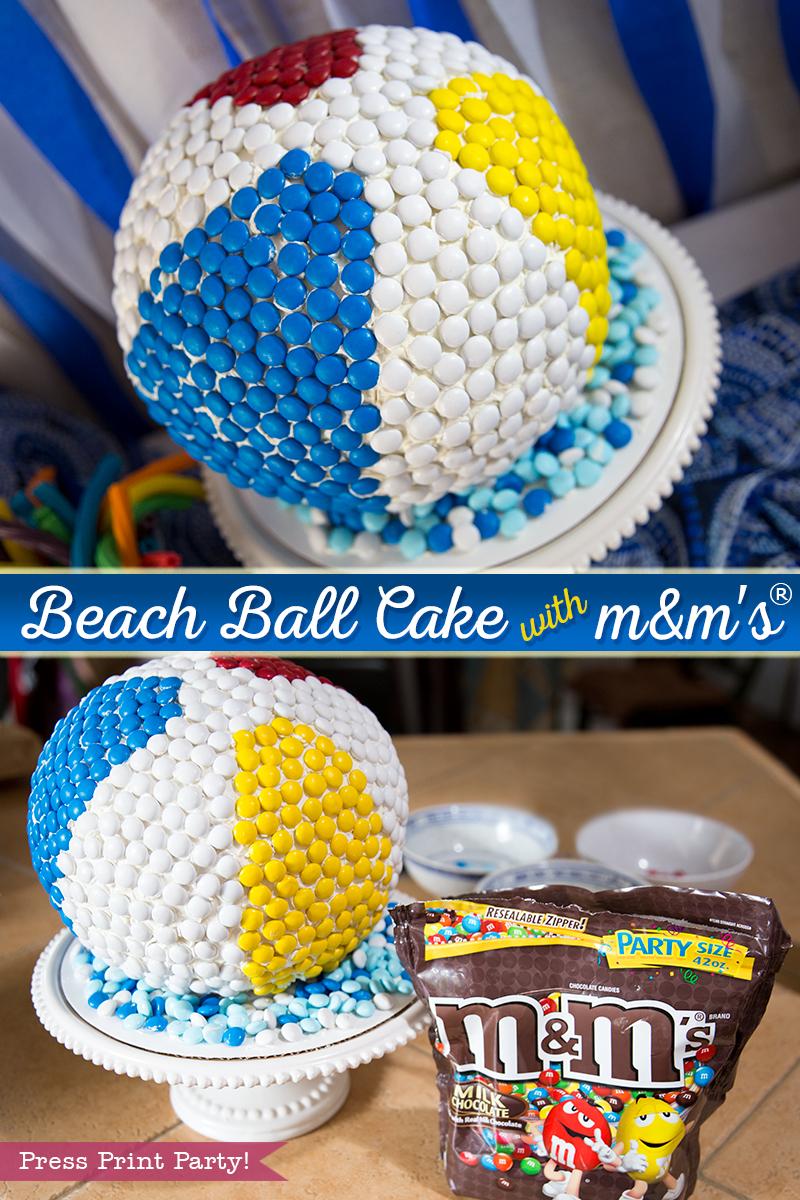How to make a beach ball cake w mms Press Print Party