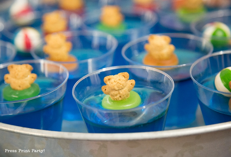 Teddy Bear Swimmers Easy Jello cup Treats. By Press Print Party!