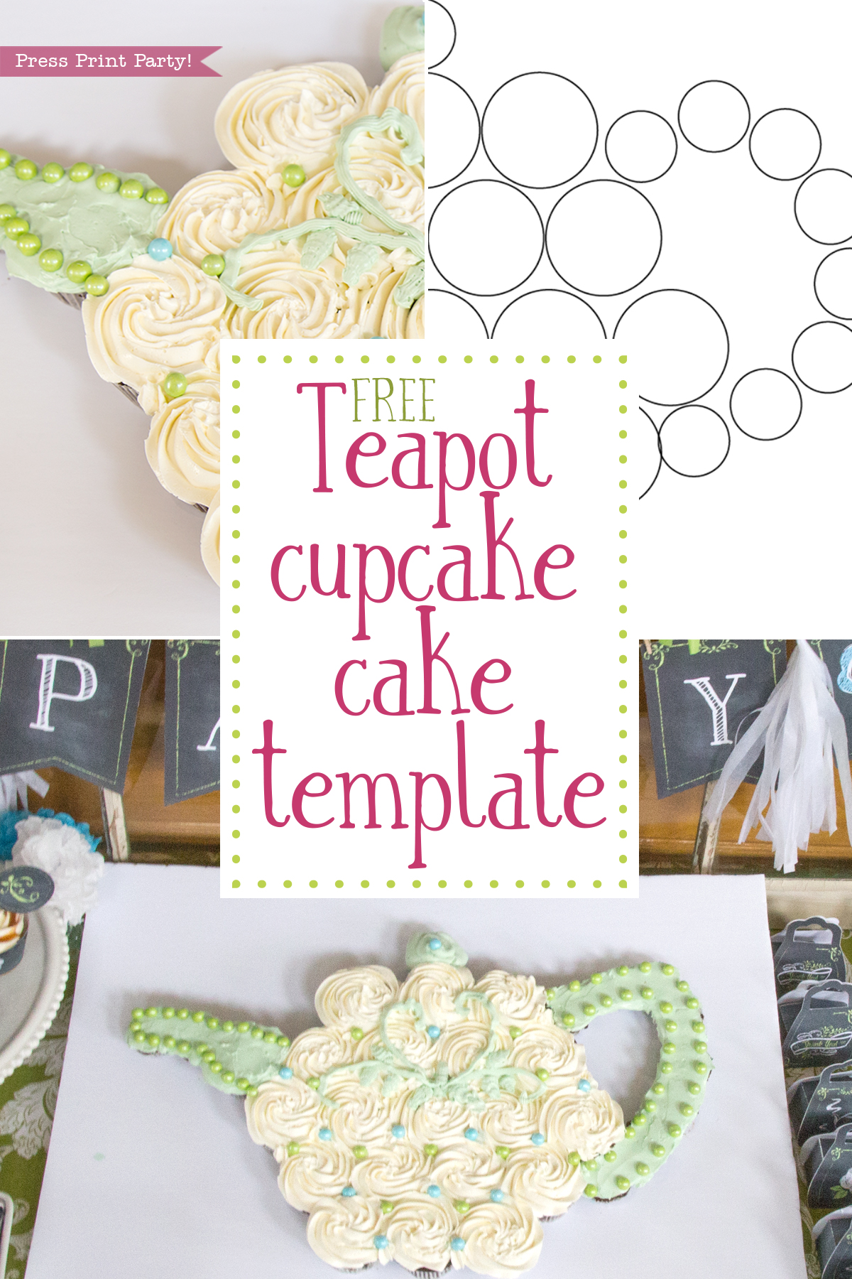 photo about Teapot Template Free Printable identified as Free of charge Teapot Cupcake Cake Template and Information as a result of Drive