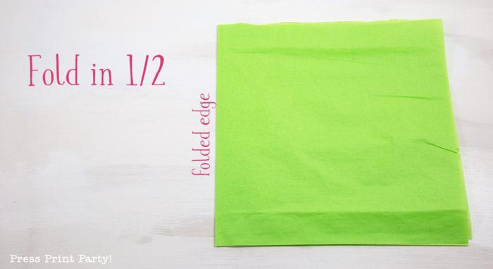 fold in half- tissue paper garland tutorial Press Print Party!
