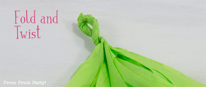 fold and twist- tissue paper garland tutorial Press Print Party!