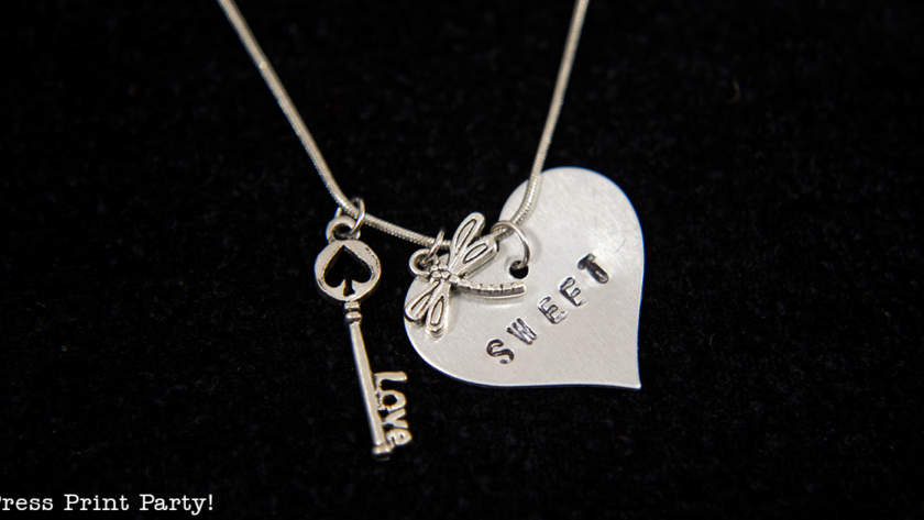 Custom Hand Stamped Necklace for Mom Tutorial