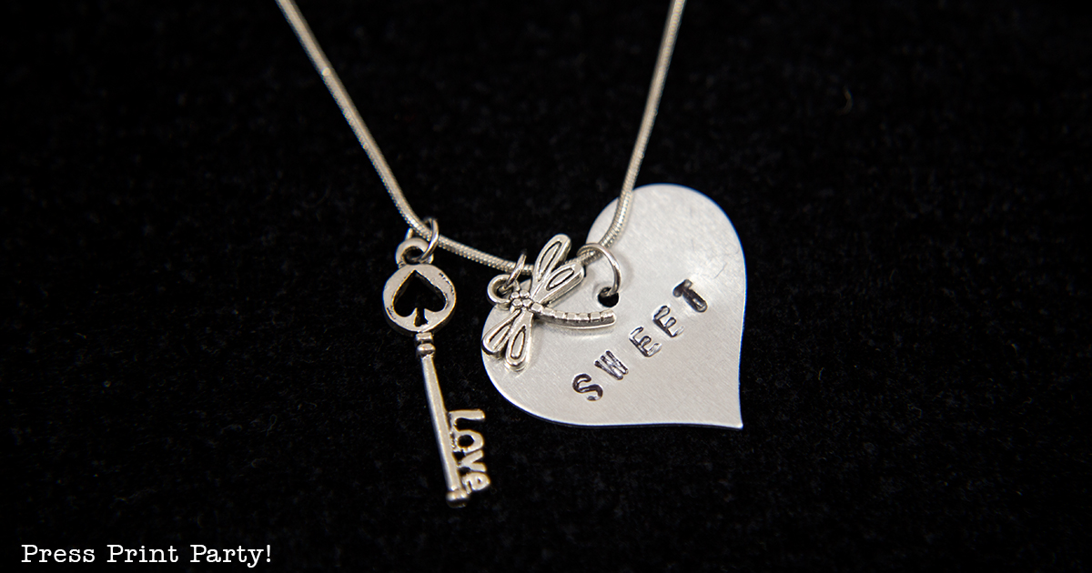An Inspirational Mother Daughter Date She'll Treasure Forever Beautiful Inside and Out- By Press Print Party! Silver Punched Charm