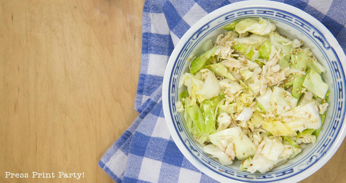 Crispy Crunchy Chinese Chicken Cabbage Salad