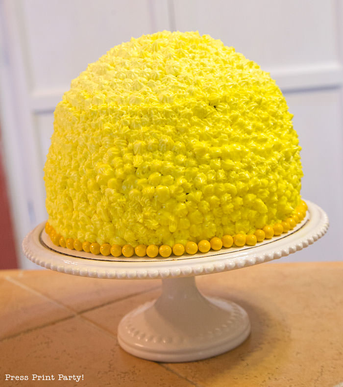 Party like a Pineapple -Pineapple party - Luau Party - Pineapple shaped cake frosted- by Press Print Party!