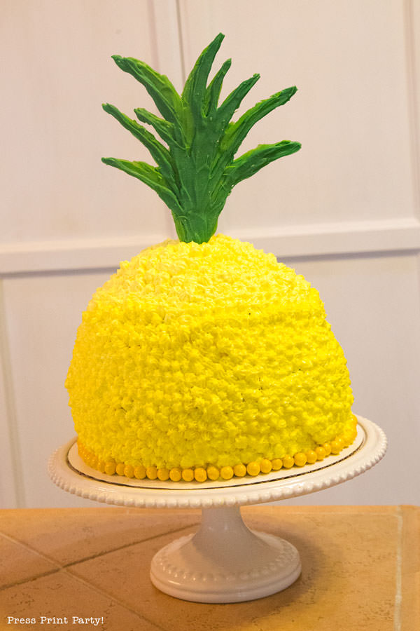 How To Make A Birthday Pineapple Shaped Cake Press Print Party